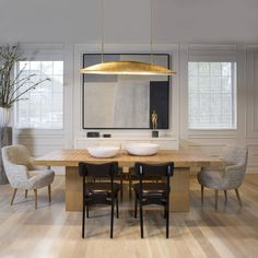 KELLY WEARSTLER | TROUSDALE DINING TABLE. Unique diamond geometric brushed patterned table top.