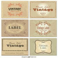 Conjunto de plantillas de tarjetas vintage