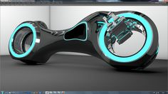 Modélisation 3D Cinema 4D de la moto Tron