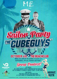 Este 4 de octubre no puedes faltar a la Sailor Party en nuestro #HotelAsociado ME Cancun, THE CUBE GUYS regresan a Cancún en la mejor fiesta temática de playa  ¿Te lo vas a perder?