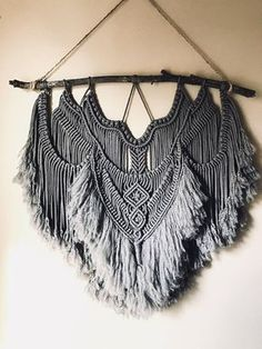 Large 36 Modern Macrame Wall Hanging