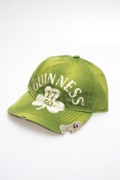 Guinness Irish Beer Alcohol – Green Clover Bottle Opener Adj Irish Baseball Hat Cap « Impulse Clothes