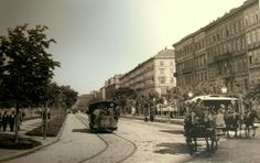 Ringstrasse, Wien, ca. Vienna, Old World, Austria, Street View, History, Vintage, Historical Pictures, Old Pictures, Concerts