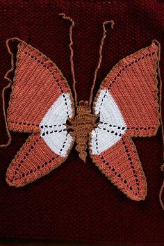 Diy Crochet Top, Crochet Bikini, Knit Crochet, Crochet Summer, Cute Crochet, Crotchet, Crochet Butterfly, Butterfly Top, Crochet Designs