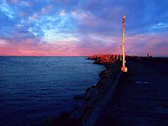 Atardecer en la escollera del puerto Necochea/Quequen!