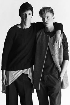 Mathias Goossenes and Michael Ejmont at Independent Men photographed by Simone Lorusso and styled by Carlotta Annunziata with pieces from COS, ASOS, Levi's, Aspesi, American Apparel, Topman and more, in exclusive for Fucking Young! Online.
