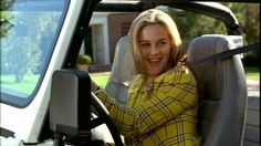 Cher Horowitz in her White Jeep in the famous 1995 movie Clueless