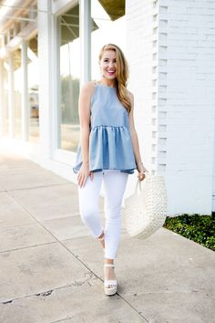 gingham peplum top   how to style a peplum top   how to wear a peplum top   how to style gingham   how to wear gingham   summer fashion   summer style   fashion for summer   style ideas for summer   warm weather fashion   fashion tips for summer    a lonestar state of southern