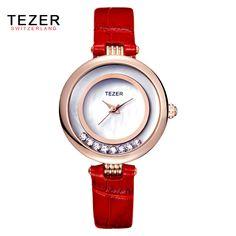 $24.99 (Buy here: https://alitems.com/g/1e8d114494ebda23ff8b16525dc3e8/?i=5&ulp=https%3A%2F%2Fwww.aliexpress.com%2Fitem%2FTEZER-Ladies-Leather-Band-Luxury-Watch-Fashion-Brand-Watch-Women-Rhinestone-Quartz-Wristwatch-Reloj-Montres-Femmes%2F32657140399.html ) TEZER Ladies Leather Band Luxury Watch Fashion Brand Watch Women Rhinestone Quartz Wristwatch Reloj Montres Femmes 2016 AA343 for just $24.99