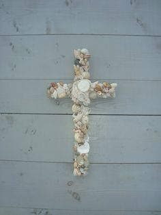 Seamist  Wooden Seashell Cross/ Seaside decor by MyHoneypickles, $48.00 Seaside Home Decor, Seaside Theme, Coastal Decor, Cabana Ideas, Welcome To My House, Wall Decor, Room Decor, Beach Ideas, Craft Ideas