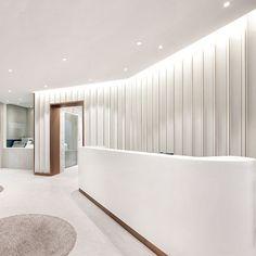 플랜디자인 Modern Reception Desk, Reception Desk Design, Commercial Design, Commercial Interiors, Luxury Interior, Interior Design, Office Entrance, Cove Lighting, Dental Office Design