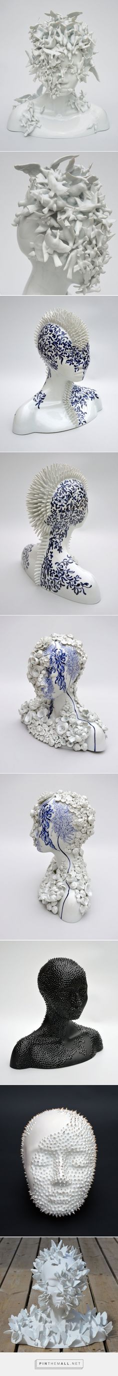Porcelain Female Forms That Blur the Line Between Humans and Nature by Juliette Clovis | Colossal - created via https://pinthemall.net