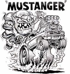 97 best 1966 mustang images rolling carts ford mustangs mustang cars 1967 Mustang Fastback odd rods original art illustratorium hot rods and wacky packages or where