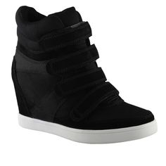 Aldo hidden heel velcro high tops - comfy and work with any outfit.