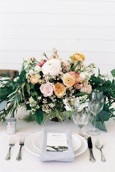 wedding reception centerpiece idea; featured photographer: Emilie Anne