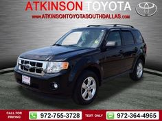 2012 Ford Escape XLT Black $15,888 44948 miles 972-755-3728  #Ford #Escape #used #cars #AtkinsonToyotaSouthDallas #SouthDallas #TX #tapcars