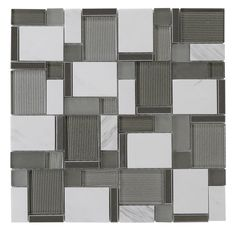 Modern Silver Glass and White Stone Mosaic Tile is a blend of glass and natural stone tiles in white and silver colors. It is mesh mounted on 12x12 fiberglass sheet for an easy installation. It is sui