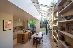Gallery Brick House is a private house renovated and extended in 2016 by Neil Dusheiko Architects. The house is located in London, UK. Victorian Terrace House, Victorian Homes, Beautiful Kitchens, Beautiful Interiors, Small Kitchen Remodel Cost, Open Plan Kitchen Dining Living, Open Kitchen, Architects London, Cocinas Kitchen