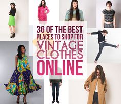 36 Of The Best Places To Shop For Vintage Clothes Online