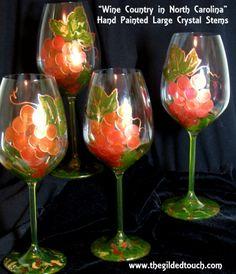 Tuscany Hand Painted Wine Glasses
