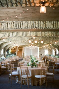 Mayowood Stone Barn in Rochester, Minnesota Wedding from Laura Ivanova Photography | Style Me Pretty