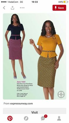 Two multicolored fitting dress. Kanyget fashions +