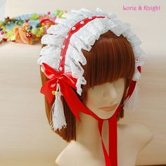 Special price Girls White and Red Lace Sweet Lolita Headdress/Hair Band/Headband  Black Red just only $18.80 with free shipping worldwide  #babygirlsclothing Plese click on picture to see our special price for you