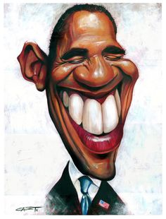 Image result for obama caricature