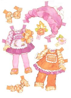 (⑅ ॣ•͈ᴗ•͈ ॣ)                                                            ✄Peanut Butter & Jelly paper dolls