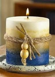 Guide for Making Decorative Candles - DIY real Henna Candles, Blue Candles, Pillar Candles, Candle Art, Candle Lanterns, Candle Decorations, Homemade Candles, Scented Candles, Beeswax Candles