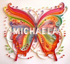 Quilled Michaela by Kathleen Usova (Iron Maiden Art)