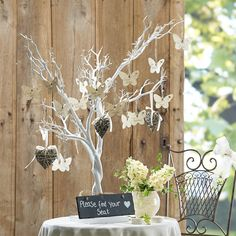 Hobbycraft White Tree 104 Cm | Hobbycraft - make a fabulous alternative guest book for a wedding, which the happy couple can keep as a decoration. Die cut tags in flower, leaf or butterfly shapes