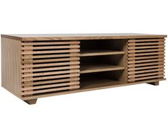 Wooden TV cabinet with shelves Media Furniture, Cabinet Furniture, Furniture Making, Furniture Design, Living Room Tv, Home Living, Alcove Tv Unit, Armoire Tv, Tv Design