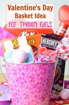 Valentine's Day Spa Basket Idea for Tween Girls #HSYMessageOfLove #ad