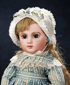 The Stein am Rhein Museum Collection: 197 Beautiful French Brown-Eyed Bisque Bebe E.J. by Emile Jumeau