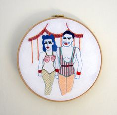 Embroidery Art - Circus Lovers