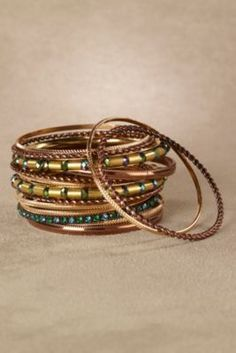 Emerald Isles Bangles from Soft Surroundings