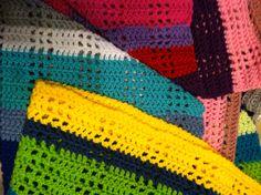 Rainbow afghan colors