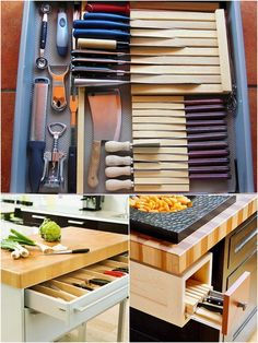 Clever storage for knives :)