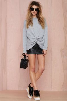 Nasty Gal Knot Hot Sweatshirt | Shop Clothes at Nasty Gal