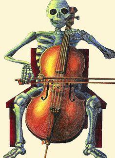 Cello-playing skeleton by primatebonz, via Flickr