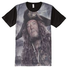 Shop Barbossa - Command Respect All-Over-Print T-Shirt created by DisneyPirates. Captain Salazar, On Stranger Tides, S Shirt, Shirt Shop, Stylish Shirts, Disney And More, Pirates Of The Caribbean, New Adventures, Printed Shirts