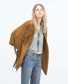 23 Pieces You Need From Zara's Summer Sale: Zara addicts, brace yourselves — the Summer sale has arrived, and it's everything you need for a warm-weather refresh. Fringe Fashion, Boho Fashion, Outerwear Women, Outerwear Jackets, Bohemian Style, Boho Chic, Style Bobo Chic, Estilo Hippy, Flower Power