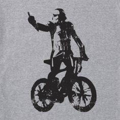Star Wars Dart Vader BMX t-shirt funny