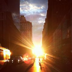 Sunset on 34th Street in NYC is nothing short of stunning.