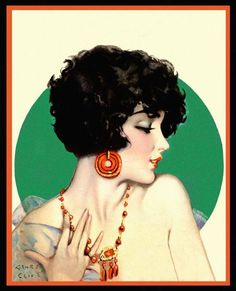 Illustration by Henry Clive (1881 - 1960) Born Henry O'Hara in Australia was a commercial illustrator of Ziegfield girls, silent film starts and magazine covers from the 20's to the 50s.