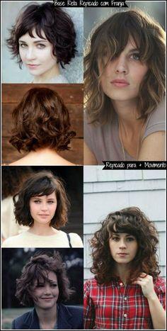 Rosto redondo: Cortes de cabelos lindos e modernos