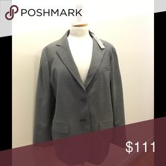 NWT Talbots Grace Fit Blazer Talbots Blazer.  The Grace Fit, Flattering Classic, in soft gray color.  Size 12WP.  Great foundation for any professional wardrobe or to dress down with jeans!  Size: 12WP.  NWT!! Talbots Jackets & Coats Blazers