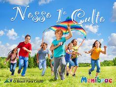 Wallpaper construído para o 1º culto da menibrac, grupo das crianças da Igreja O Brasil para Cristo.
