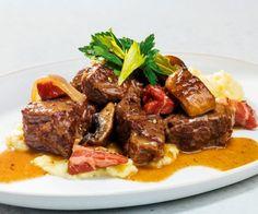 Rezept: Rinder-Schmortopf mit Pilzen